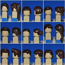 LEGO PARTS - CHOOSE YOUR HAIR/WIG PIECE/DARK BROWN MAN/WOMAN/CHILD MINIFIGURE