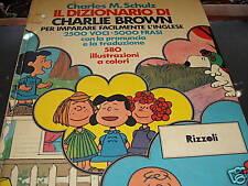SCHULZ, il dizionario di Charlie Brown  rizzoli 1975