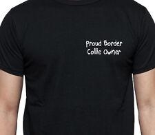 Orgulloso Border Collie propietario T Shirt propietario de perro Regalo Raza Negro
