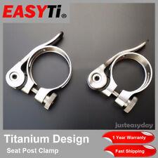 EasyTi Titanium 31.8mm 34.9mm Quick Release Seat Post Clamp SuperLight