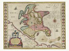 Alte Rügen Deutschland Landkarte Blaeu ca. 1655 Papier Leinwand