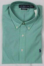 Ralph Lauren Green Plaid Classic Dress Shirt Navy Pony NWT