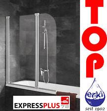 SCHULTE Badewannenaufsatz Badewannenfaltwand 2-teilig Echtglas Komfort EP1653