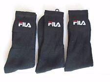 Fila Socks Pack of 3 in Black 43 - 46 SPORTS COMFORT LEISURE NEW