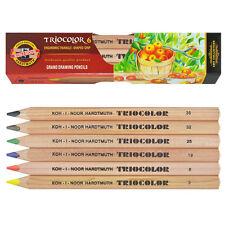 Koh-I-Noor 3151 Triocolor Jumbo Ergonomic Coloured Pencils - Packs of 6, 12 & 24
