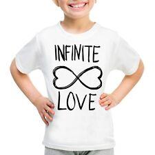 T-SHIRT INFINITE LOVE MAGLIETTA HAPPINESS AMORE INFINITO PERSONALIZZATA BAMBINA