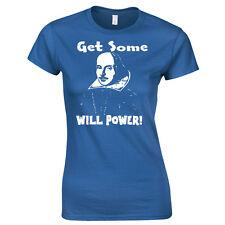 William Shakespeare Homenaje Camiseta The Bardo Will Power ! mujer estilo mujer