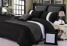 Aleah Black Grey White Quilt Cover Set QUEEN / SUPER KING Size Doona Cover Set