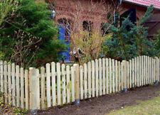Komplettpaket Gartenzaun mit Pfosten + Zubehör Zaunfeld Staketenzaun Zaun oben