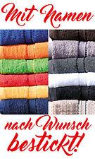 Handtuch Duschtuch Badetuch Saunatuch 65 x 180 cm mit Namen STICK nach Wunsch