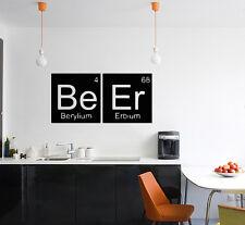 Cerveza-Tabla Periódica BERYLIUM erbio Ciencia elemento Calcomanía Pared Adhesivo imagen