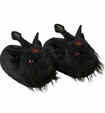 Killstar Dark Lord Satan Baphomet Pentagram Goth Punk Plush Slippers KSRA001363