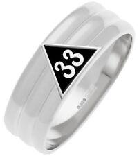Sterling Silver 0.925 Masonic Scottish Rite 33rd Degree Masonic Mason Ring