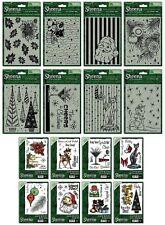 Nuevo Sheena Navidad carpetas de grabación en relieve y/o Sellos De Goma Crafters Companion