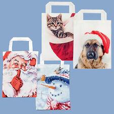 Premier Diseño de la Navidad Reutilizable Bolsa - Santa Muñeco Nieve Perro o