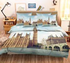 3D London Buildings 53 Bed Pillowcases Quilt Duvet Cover Set Single Queen CA