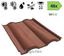 Tegola Doppia Romana in plastica color cotto - 48 pezzi - tetto coppo terracotta