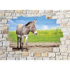 Stickers mural mur de pierre Ane 8523