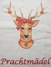 Hirsch Shirt Louis & Louisa Prachtmädel weiß 116 122