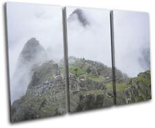 Machu Picchu Nature Landscapes TREBLE DOEK WALL ART foto afdrukken