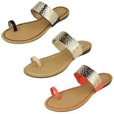 Ladies Spot On Toe Loop Sandals