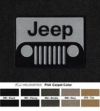 Lloyd Mats Velourtex Jeep Grill Logo Front Floor Mats (1955 & Up)
