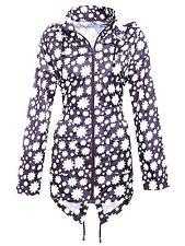 LADIES WATERPROOF WINDPROOF DAISY JACKET womens navy blue rain parka hooded coat