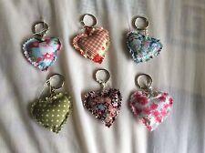 Padded Heart keyrings