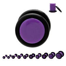 Piercing plug (tunnels ecarteur expander) violet de 1.6 mm à 8 mm