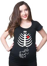 Skeleton Unicorn Maternity Halloween T-shirt Unicorn Tee Shirt