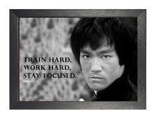 Bruce Lee 3 foto de determinación de impresión de cotización de motivación Negro y Blanco Cartel