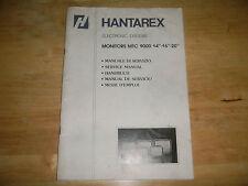 "HANTAREX MTC 9000 14"" 16"" 20"" monitor original vintage arcade game manual"
