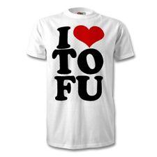 I Love Tofu Vegan t-shirt Vegetarian Unisex Veggie fun Organic Life Top