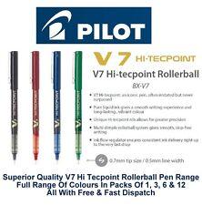 Pilot Bx V7 Hi-Tecpoint Fine Rollerball Pen 0.7mm Nib 0.5mm Line All Colours
