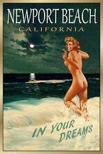 Newport Beach California Original New Poster Marilyn Monroe Pin Up Art Print 171