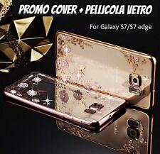 COVER TRASPARENTE TPU SILICONE PER GALAXY S7/S7 EDGE S8 S8+ BRILLANTINI STRASS