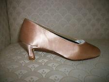 """Ballroom Dance Shoes Capezio Courtney BR72S BR47S Champagne Satin 1.75"""" 2.5"""" NIB"""