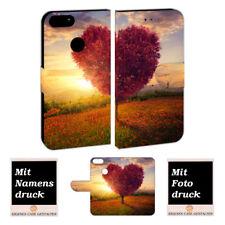 One Plus 5 Handy Schutzhülle Tasche mit Herzbaum + Foto + Text + Logo Druck Etui