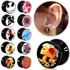 Túnel bollos Plug piercing oreja motivo logotipo dehnstab pendientes atornilla expansor