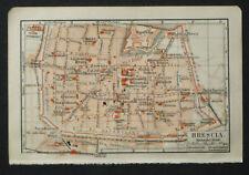 Antica Stampa Topografica,BRESCIA LOMBARDIA.1912.MEYERS
