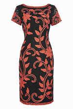 Cinta De Coral Romano bordado encaje vestido (nuevo) TALLAS: 10, 12, 14, 16 & 18 £ 60.00