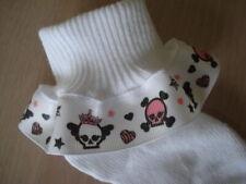 Girly Punk Skull Rocker Princess Ruffle Socks