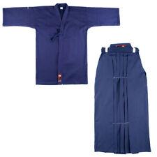KENDO SET BASIC HAKAMA BLUE e KEIKOGI GI KENJUTSU IAIDO BOGU Taijutsu jujutsu