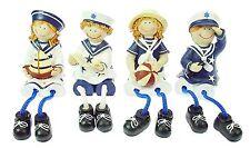 Figurine enfant en habits de marin 11cm décoration bord de mer, déco marine neuf