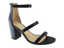New Catwalk Sprinter Black Snake Block Heel Sandal