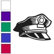 Police Hat Cop Cap Decal Sticker Choose Color + Size #2251