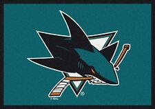 "5x8 Milliken San Jose Sharks 2051 Sports NHL Spirit Area Rug - Approx 5'4""x7'8"""