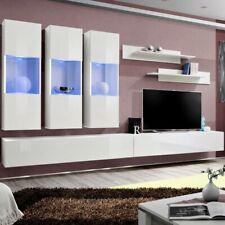 "Paris Prix - Meuble Tv Mural Design ""fly Ii"" 320cm Blanc"