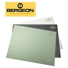 Bergeon 7808-01 Slightly Soft Anti-Skid Bench Mat in Black, Green & White - NEW!