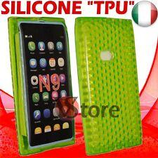 Cover Custodia Per Nokia N9 Verde Gel Silicone TPU Case Diamond Green